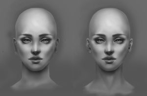 Portrait Practice 2 by Inevva Critique by animefreec