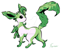 Leafeon [Yellow's colors] by Furreon