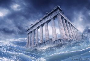 Floods - Parthenon by arthame
