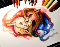 Kovu and Kiara by Lucky978