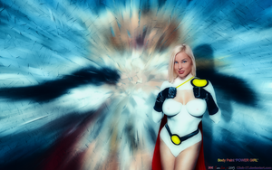 BABEWORLD#136: Body Paint POWER GIRL by CSuk-1T