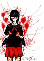 Bloody me_Jigoku Shoujo by rabbittheking