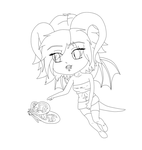 Chibi Lineart 07 by Death-Tendency