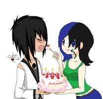 Lets share some cake collab by Puppiluvr