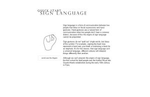 Sign Language by Tonliveshere