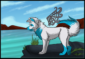 Guard of the sea by LolaTheSaluki