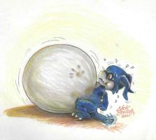 Veemon Thinks He Can by Inflato-Phraggle