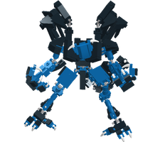 Blue Demon in lego by pittstop
