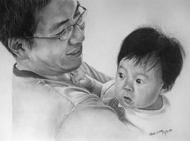 My best friend and his daughte by paullung