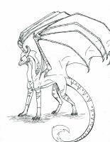 Dragon Commission Lineart by Reptile64