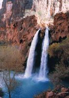 Havasu Falls, after the flood by rawesome1
