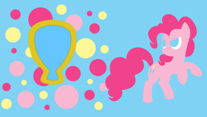 Pinkie Pie's Laughter Minimalist Wallpaper by Narflarg