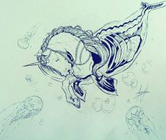 Unicorn Of The Ocean (Norwhal/Unicorn) by 7ance7ee