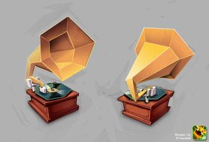 Monster Life - Items - Gramophone by joslin