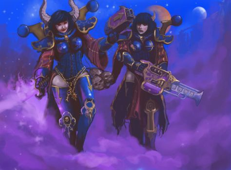 Sisters of Chaos by DimitrijGontscharart