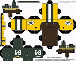 Sterling Sharpe Packers Cubee by etchings13