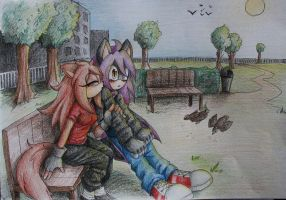 Commission: At the park by debsie911
