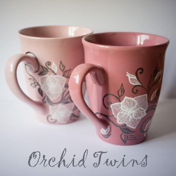 Orchid Twin Cups by smist