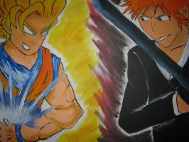 The Epic Brawl-Goku vs Ichigo by SmashBros2008