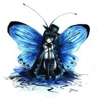 Blue Butterfly by Eminora
