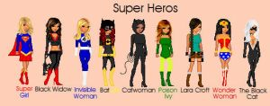 Women Super Heros by TheBealtes