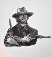 Clint Eastwood as The Outlaw Josey Wales by HotWheeler