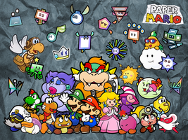 Paper Mario Partners by MrPiggyJelly