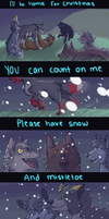 I'll be home for christmas by PenguinEatsCarrots