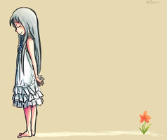 AnoHana: goodbye flower by BearWithGlasses