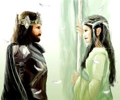 Aragorn and Arwen: The Reunion- Return of the King by IgnitingLights