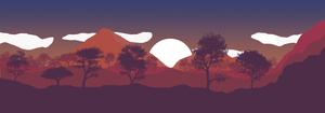 Flatdesign landscape wallpaper. by SwedishMudkip