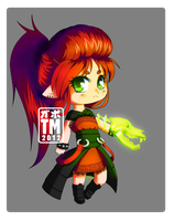Chibi Elf Mage by NauticalSparrow