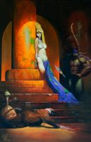 Egyptian Queen Meets Bowman by JohnHLynch