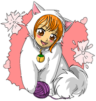 chibi Nami Cat by KawaiiJuraculMihawk