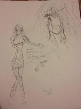 OC Character - The Vicious Woman (1st concept) by choxie-chan