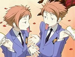 ouran twins funny face by narusakugirl22