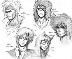 5 free practice sketches by karulox