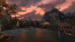 Riften Sunset by lupusmagus