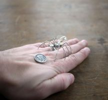 Mechanical Spider No 17 (III hand for SCALE) by AMechanicalMind