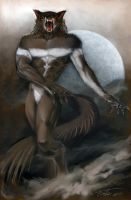 Angry Striped Werewolf by Tonite