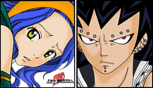 Levy Gajeel with Color by AokiScarlet