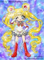 Super Sailormoon Colored by Alalein