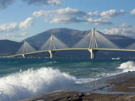 Rio-Antirio bridge by Eusebius-fr