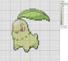 152 - Chikorita by Makibird-Stitching