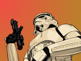 Imperial Stormtrooper by Content-Josho