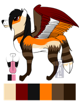 Reference Sheet: Ryii by PunctualFox