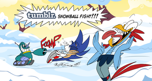 Tumblr Snowball Fight 2012 by FractiousLemon