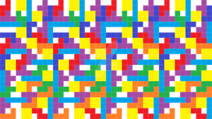 Tetris Pattern Background by LevelInfinitum