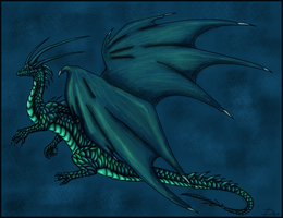 Water dragon by Demoniica