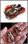 Focal lampwork beads 3 by Faeriedivine